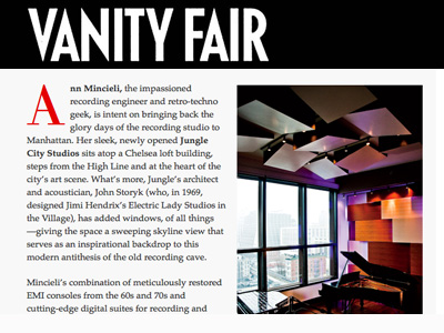Jungle City in Vanity Fair