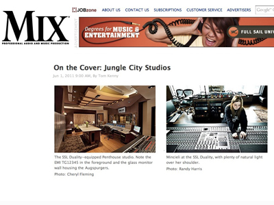 Cover Of Mix Magazine